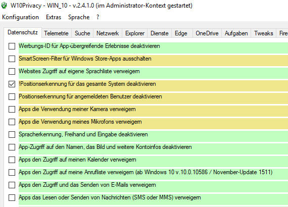 Datenschutz Microsoft Tool