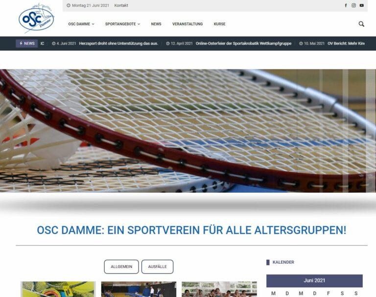 OSC Damme Website